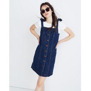 NEW Madewell Denim Tie-Strap Mini Dress 4